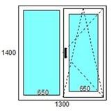 Окно пластиковоеКВЕ «Эксперт» 70 мм / 5 кам / Roto 2 кам с/п 32 мм