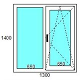Окно пластиковое  TROCAL «Balance» 70 мм / 5 кам / Roto 2 кам с/п 32 мм Top-N