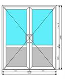 Дверь алюминиевая безимпостная ТАТПРОФ, 45 мм,  1*24мм