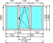 Окно пластиковое GUTWERK 70 мм / 4 кам / Roto / 2 кам с/п 44 мм 2 кам с/п 32 мм Top-N
