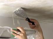 Очистка потолка от шпатлевки