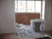 Снос бетонных стен (межкомнатных перегородок толщиной до 8 см)