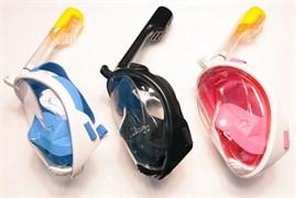 Маска для сноркелинга у поверхности водоема FREE BREATH Черный L/XL