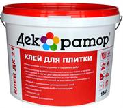 Клей для плитки ДК 21 (15кг) водно-дисперс., акриловый
